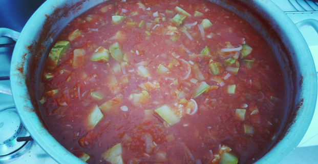 Molho de tomates natural